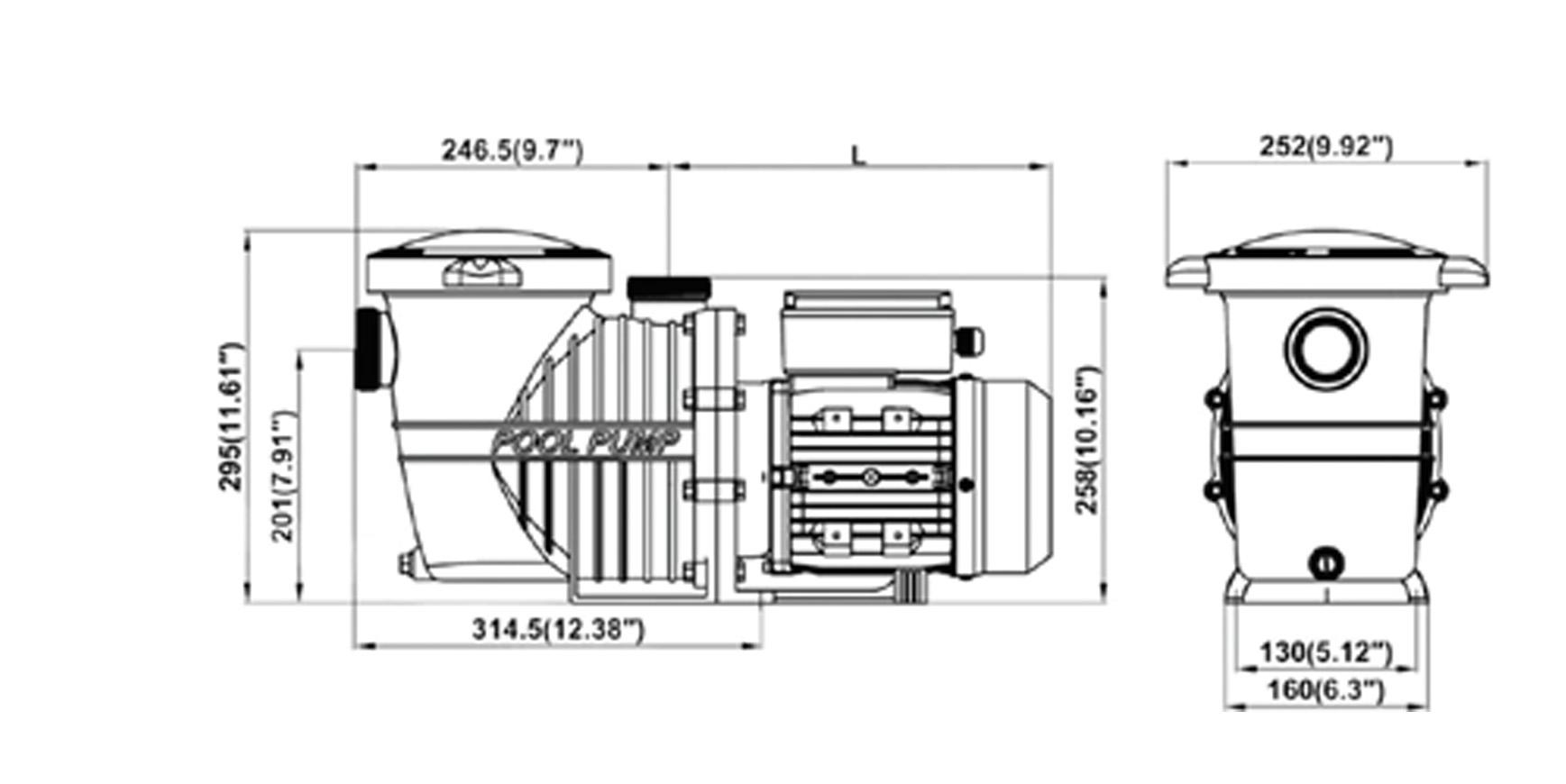 Basic 14 m3/h 1,0 HP/230 V