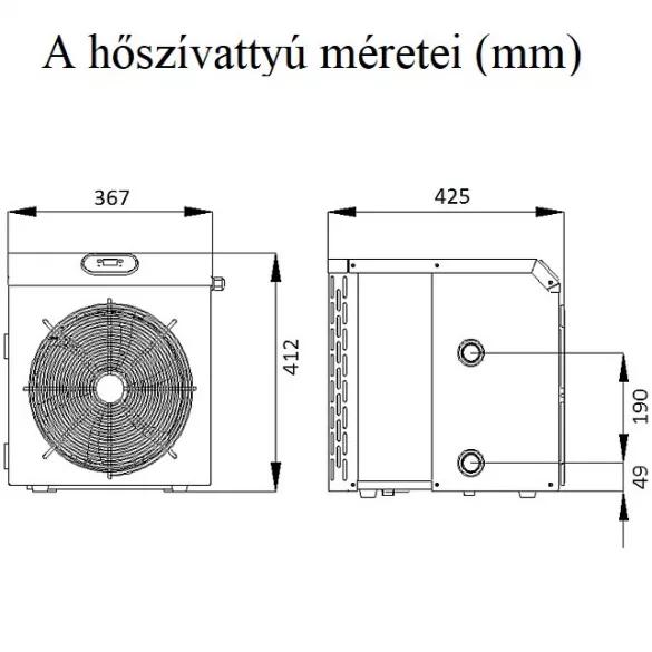 FAIRLAND MINI 3,5 kW hőszivattyú medencéhez