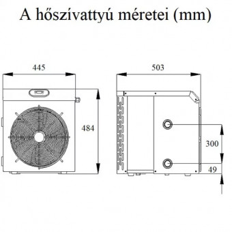 FAIRLAND MINI 5,8 kW hőszivattyú medencéhez